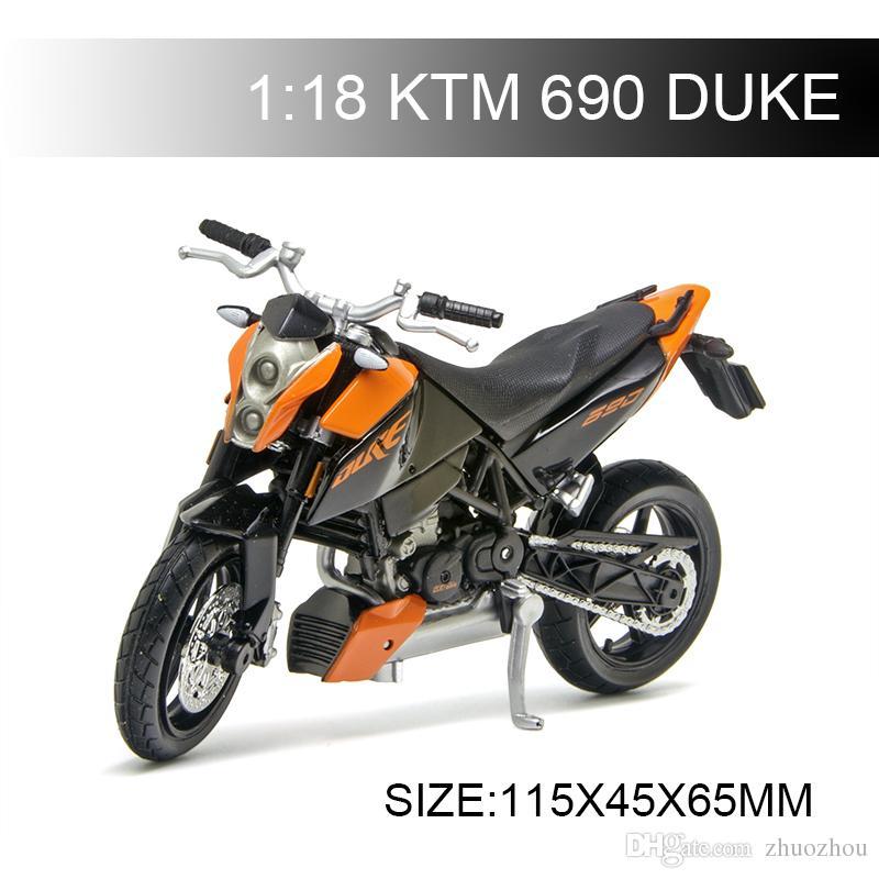 1:18 Motorcycle Model KTM 690 DUKE Model bike Alloy Motorcycle Model Motor Bike Miniature Race Toy For Gift Collection