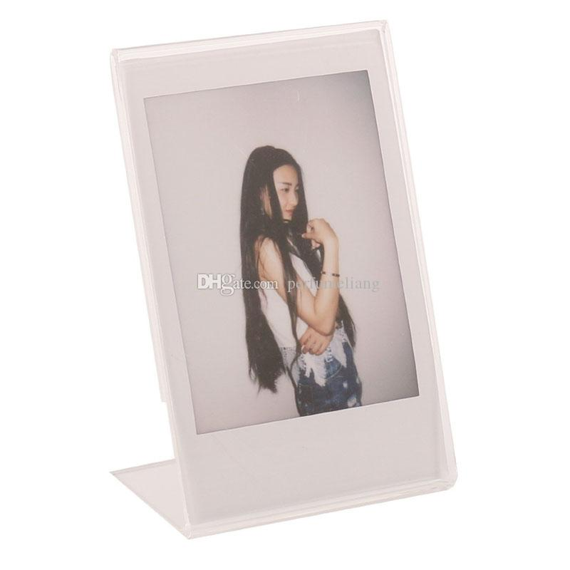 Acrylic Photo Frame for Mini Instax Film Paper 3 Inch Photo Picture Frame Frames L Crystal Transparent ZC0695