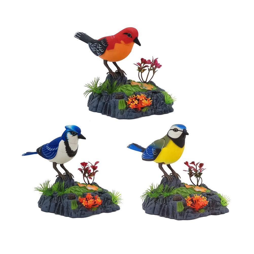 Falar eletrônico Repetindo Parrot Cantando Toy Chirping Pássaro Com Movimento ativação do sensor de pronúncias Kid animal elétrica # 30