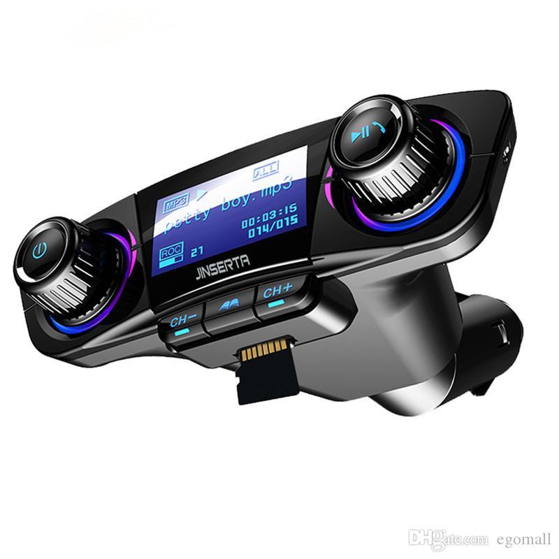السلطة ON OFF بلوتوث 4.0 FM الارسال المغير عدة السيارة يدوي TF USB الموسيقى AUX الصوت MP3 لاعب