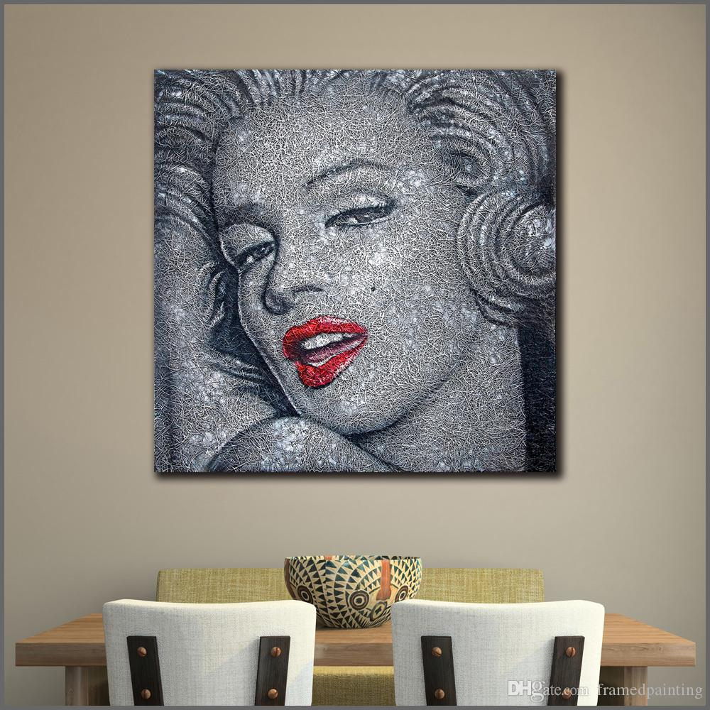 2019 Large Size Abstract Painting Modern Marilyn Monroe Art Canvas Print Wall Pictures For Living Room No Frame From Framedpainting 27 36