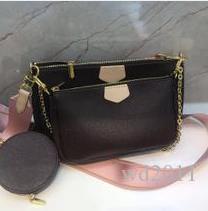 Новая сумка маджонг три-в-одном пакете ноль бумажник одно плечо косо женская сумка из трех частей бумажника MULTI Pochette ACCESSOIRES M44823
