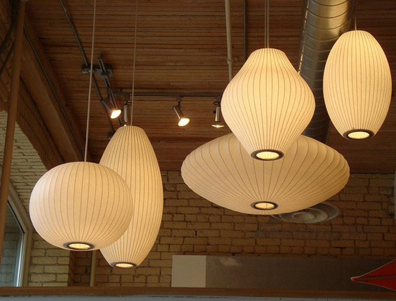 Modern Pendant Lights Chinese style lanterns personalized creative ball flying saucer silk lamp clothing store pendant