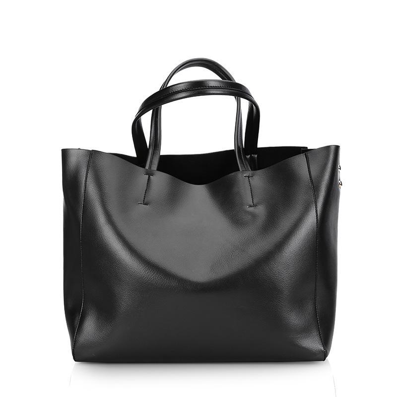 épaule cuir dames dames diagonale grands sacs capacité européenne et américa grand sac seau noir 0602