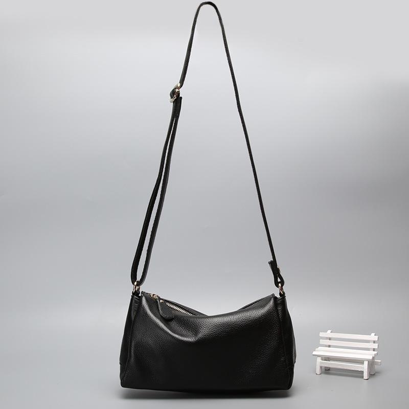 Dusa2019 Genuine Woman Package Single Shoulder Span Leisure Time Small Bag Ma'am Concise Cowhide Soft Leather Oblique Satchel