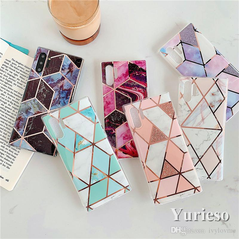 Luxury Thick TPU Shell Soft Cover Phone Marble Case for Samsung S20plus A51 NOTE 10 PRO PLUS Wholesale
