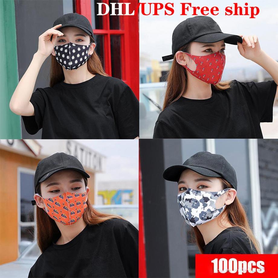 DHL-freie Verschiffen-Luxus-Partei-Gesichtsmaske waschbarer Staubdichtes Respirator Druck-Art- und Masken für Männer und Frauen