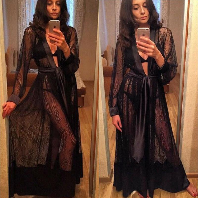 جديد مثير للمرأة السيدات شير الرباط الملابس الداخلية ملابس مش انظر من خلال رداء نوم اللباس الأسود الأبيض