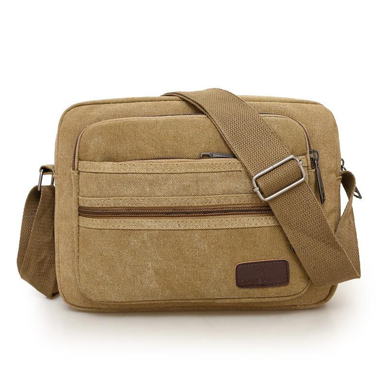 Free2019 Male Shoulder Canvas Small Oblique Satchel Affairs Cross More Interlayer Business Money Package A