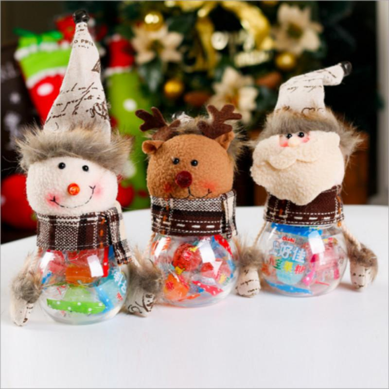 Рождественская Коробка Для Хранения Конфет Банка Бутылка Санта Клаус Снеговик Лось Рождественские Украшения