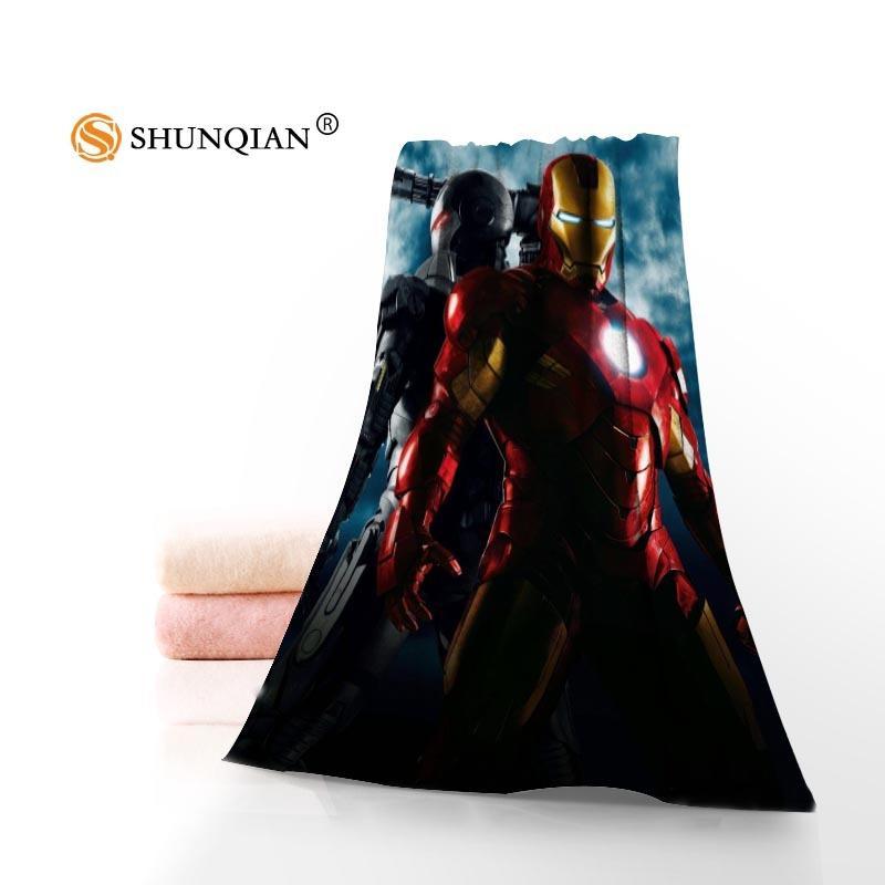 Sıcak Custom Marvel Kahraman Avenger Havlu Baskılı Pamuk Yüz / Banyo Havlu Mikrofiber Kumaş İçin Çocuk Erkek Kadın Duş Havlu A7.24-1 Y200429
