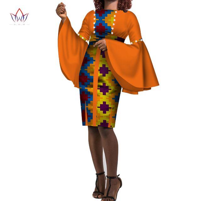 2020 плюс размера женщины хлопок платье 6xl Африка Ankara платья для женщин Dashiki традиционного печатного Riche Африка Одежда WY3322