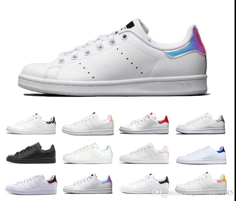 2020 Nova Smith calçados casuais das mulheres dos homens Corredores de Formação Designer Raf Simons Stan Smiths sapatos de couro Sneakers prata amarelas todas as cores