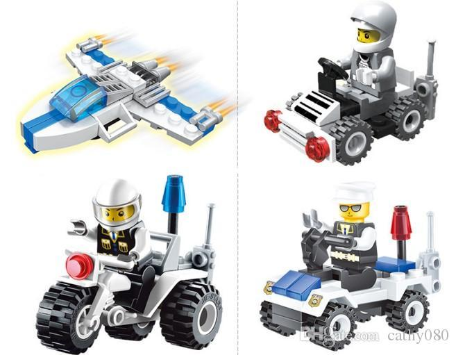 Space exploration City police Building Blocks Sets Kids toy Bricks gifts
