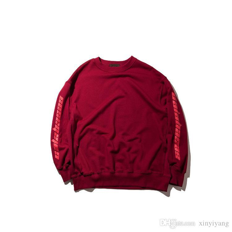Liebhaber Kanye West Schwarz Weiß Hoodies Sweatshirts SEASON 4 Lose-Sweatshirt Anzug Hip Hop Fashion Hoodies Tops