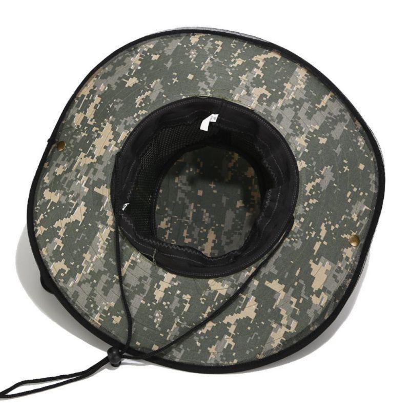 Caminhadas Caps Pesca Outdoor Folding Lazer ultravioleta-prova Anti-mosquito Boné cabeça chapéu Net com Invisível malha c s