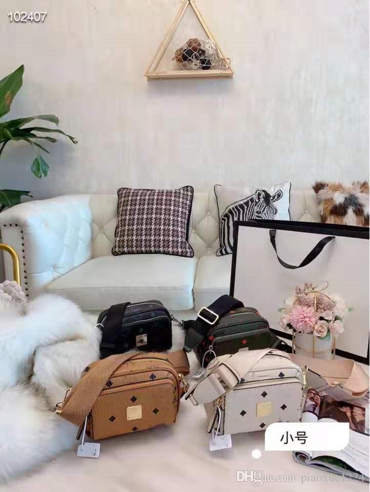 Tek omuz çantası baskı Yeni tasarımcı tasarım kadın kamera çantası klasik serisi harf kombinasyonu kutu boyunca eğimli olabilir