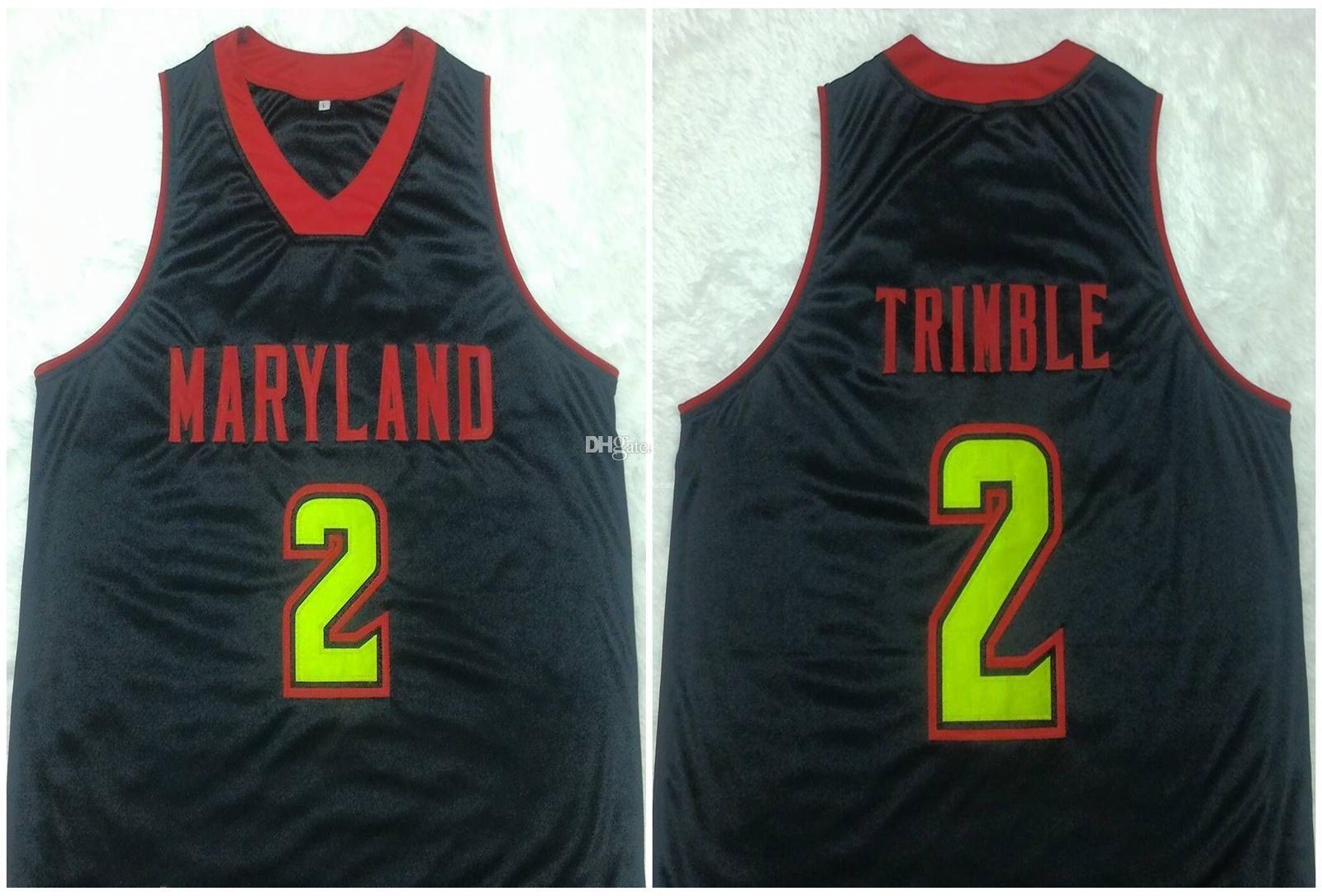 Melo Trimble # 2 Maryland Terrapins College-Retro Basketball Jersey Mens genähtes Gewohnheit irgendeine Nummer Name Trikots