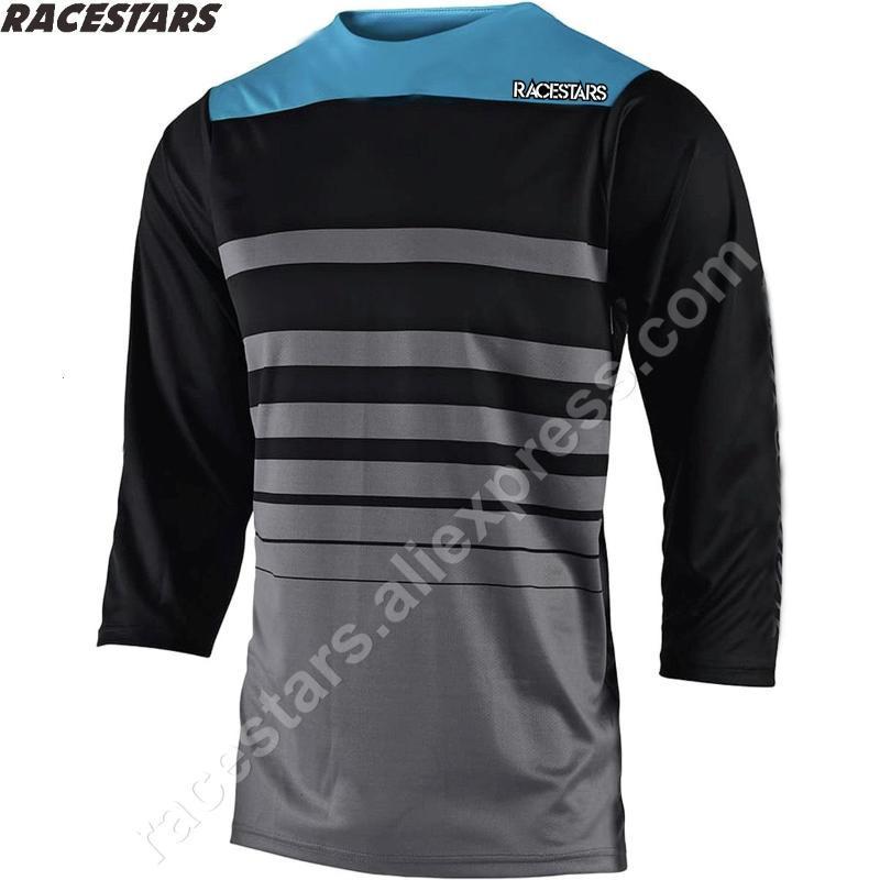 RACESTARS 2020 MX Männer Downhill Trikots Mountainbike MTB Shirts Offroad DH Motorrad Jersey Motocross Sportwear ATV Bekleidung