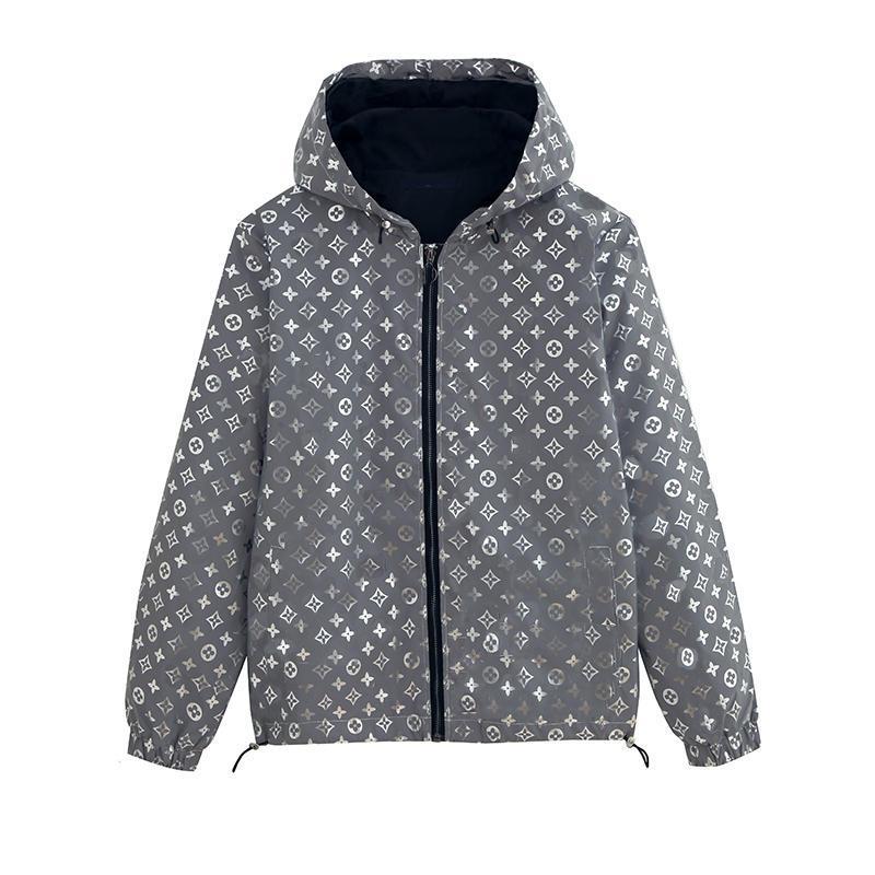 Erkek Ceket Kapşonlu İlkbahar Sonbahar Tasarımcı Coat Fermuar Cep Mektupları Moda Stil İçin Erkekler Ve Kadınlar Lüks WINDBREAKER ceket yazdır