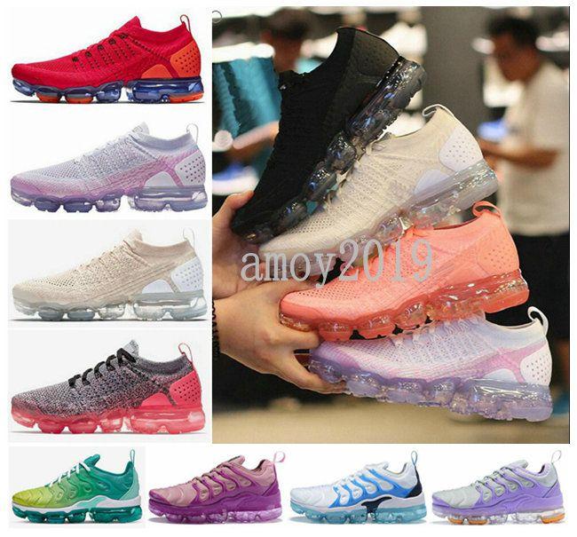 2019 Chaussures 2.0 Plus TN Femmes Chaussures De Course Mode Athlétique Sports Tns Blanc Noir Rose En Plein Air Femmes Entraîneurs Baskets De Sport