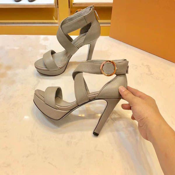 Sıcak Satış-Yeni yüksek topuklu sandaletler, yüksek topuklu ayakkabılar, deri sandaletler, rahat sandalet boyutu; 35-41 kutu