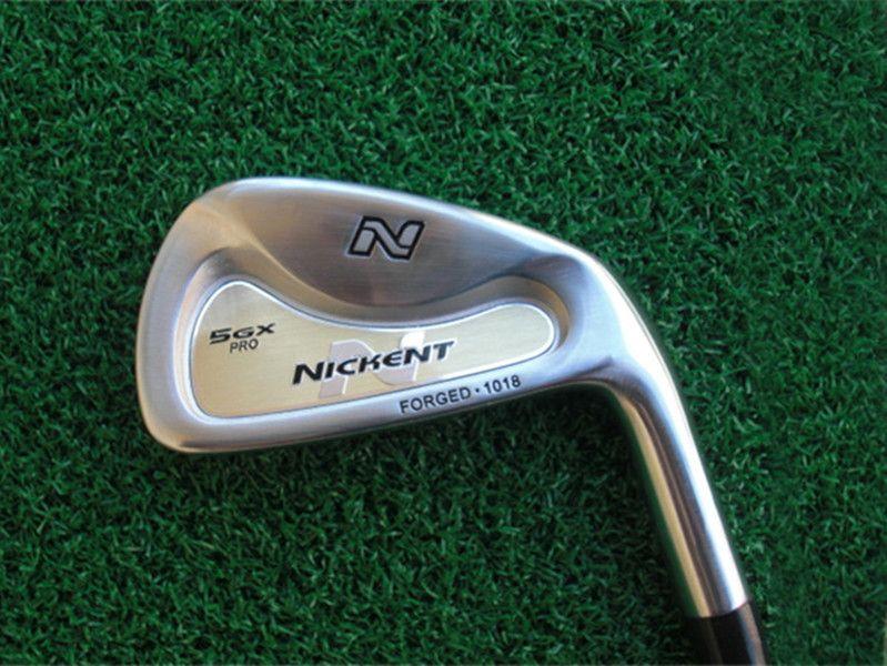 العلامة التجارية الجديدة Nickent 5GX الحديد مجموعة نيكنت 5GX نوادي الجولف 4-9psw r / s البرنانية الجرافيت / الصلب رمح مع غطاء الرأس