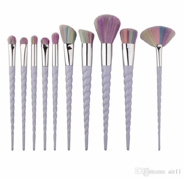 Sıcak 10 ADET Makyaj Fırçalar fan fırça Makyaj Araçları stokta ücretsiz kargo