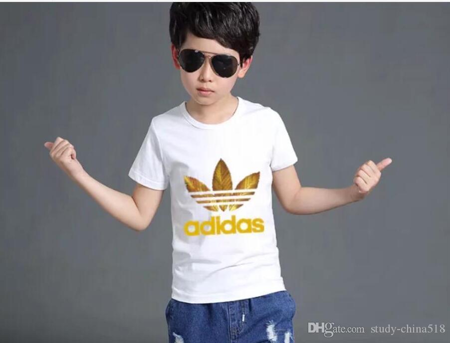 = ropa Camisetas Niñas bebés Chaqueta de manga corta Impresión de una pieza Niños lindos 0317