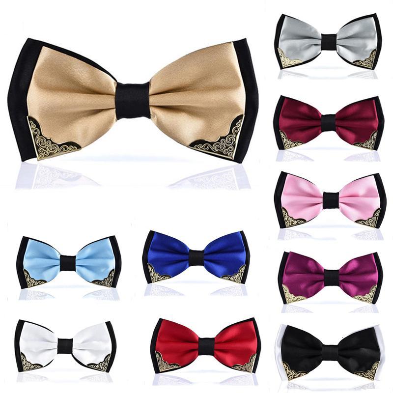 Cravates colorés formel Groom hommes les noeuds papillon de mariage Mode Homme d'affaires Cravate Costume Cadeau Accessoires Cadeau
