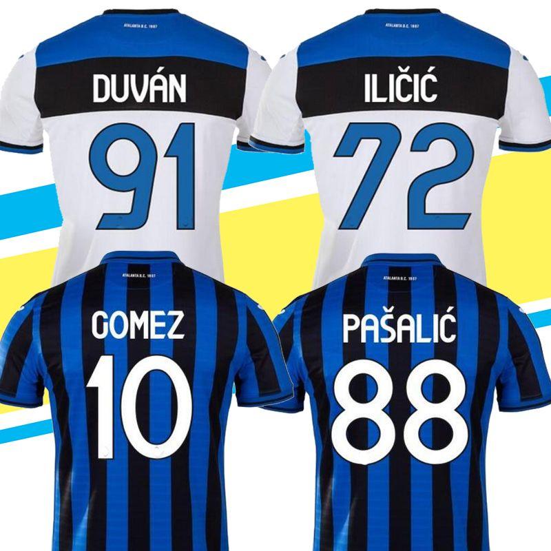 Acquista 2019/20 Atalanta Bergamasca Calcio Inizio Maglie Calcio L.MURIEL Ilicic GOMEZ Feule DUVAN DE CAMERA Pašalić Personalizzata 19 20 Atalanta BC ...