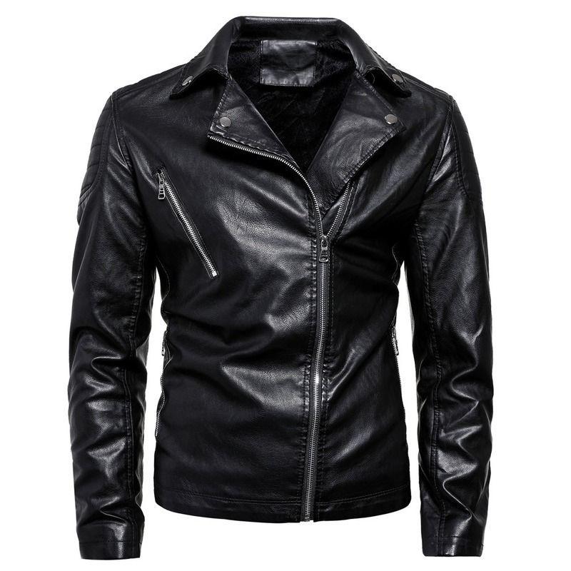 2020 homens primavera-outono, plus size, couro sintético, jaqueta de couro da motocicleta, chaqueta Cuero hombre