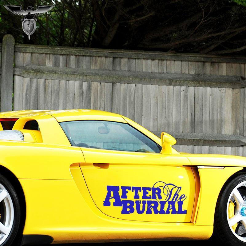 vente en gros 3 tailles 10 couleurs graphiques cool après l'enterrement bande logo autocollants de voiture fenêtre ordinateur portable pare-chocs JDM voiture stying vinyle autocollant