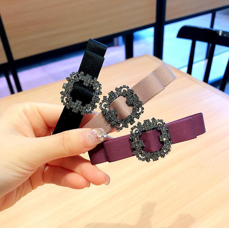 Clips de perforación simple del estilo mujeres de la tela Barrettes INS Moda Checa niñas Headwear partido del club de noche del pelo de las señoras