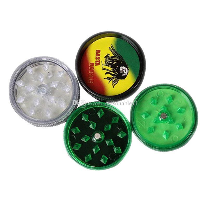 Erba secca BOB MARLEY Acrilico di plastica Mulino per tabacco con magnete per frullatore di erbe erbe tabacco da fumo
