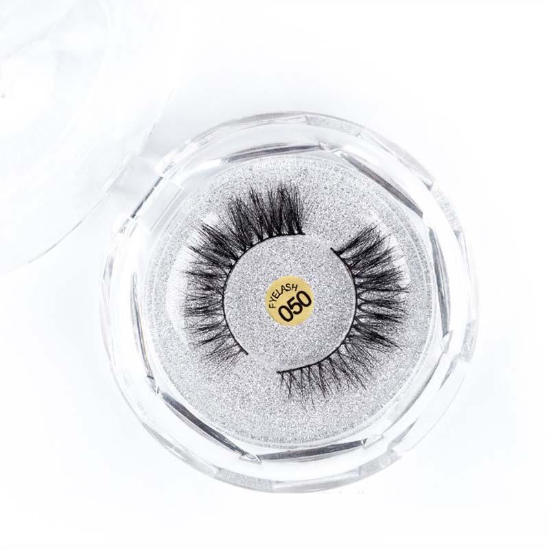 New Natural Cross Soft Long Mink False Eyelashes Free Logo Printing Fake Eye Lashes Cosmetic Extension Tools Makeup Kit