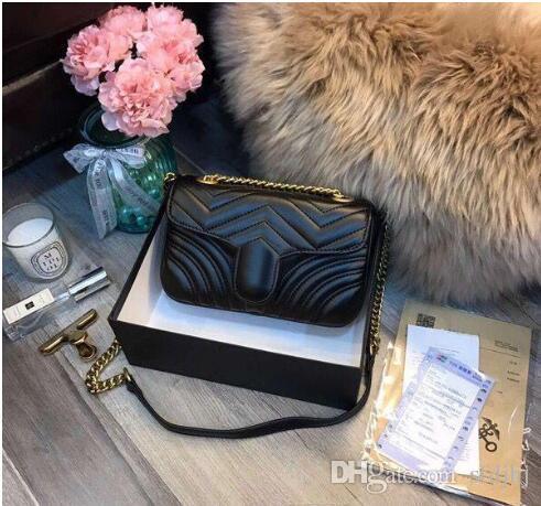 جديدة فاخرة ذات جودة عالية أزياء الحب قلب نمط حقيبة مصمم حقيبة الكتف سلسلة حقيبة يد سيدة حقيبة تسوق حمل الحقائب السوداء