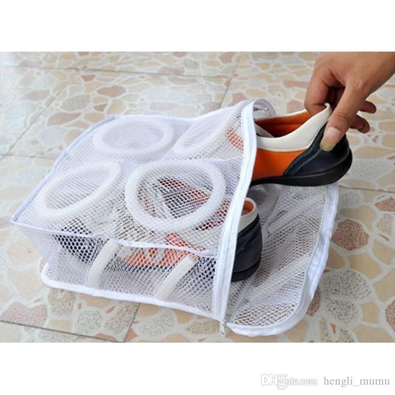 Lavar roupa Sapatos Bolsas casa usando a roupa de lavagem líquido de armazenamento Organizer 1pcs Nylon Lavandaria Delicada Bag Conveniente Bra Lingerie HK0065