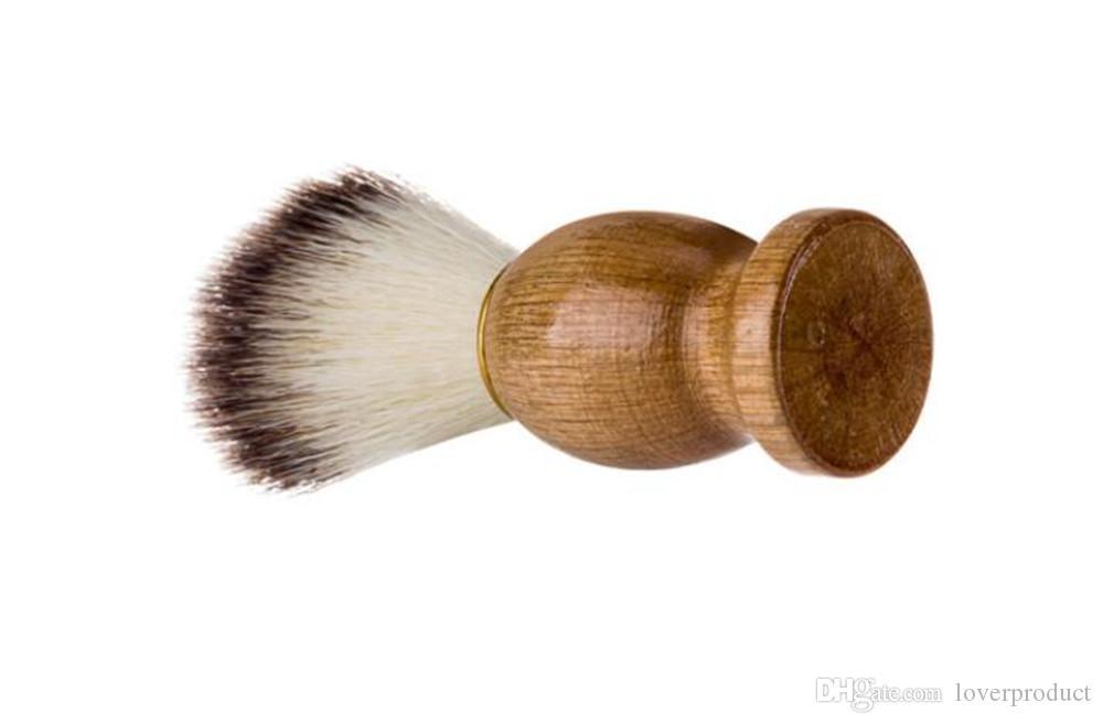 Badger Hair Men's Shaving Brush Barber Salon Men Facial Beard Cleaning Appliance Shave Tool Razor Brush With Wood Handle For Men Free