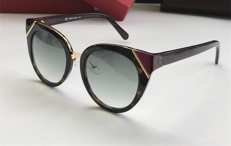 Luxo 835 óculos de sol para as mulheres Marca Designer olho de gato Estilo Moda Verão Mixed Cor da Armação Top Quality UV Lens Proteção vindo com caso