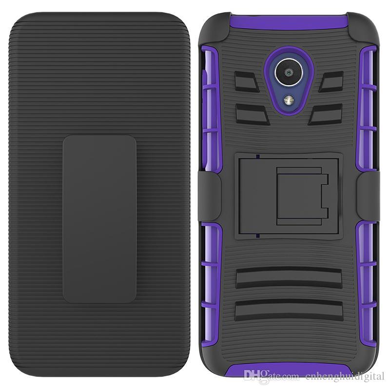 caixa do telefone para Alcatel Tetra 5041 / Revvl 2 Clipe Caso Kickstand Arrefecer Combo coldre de cinto Clipe de proteção tampa do telefone oppbag