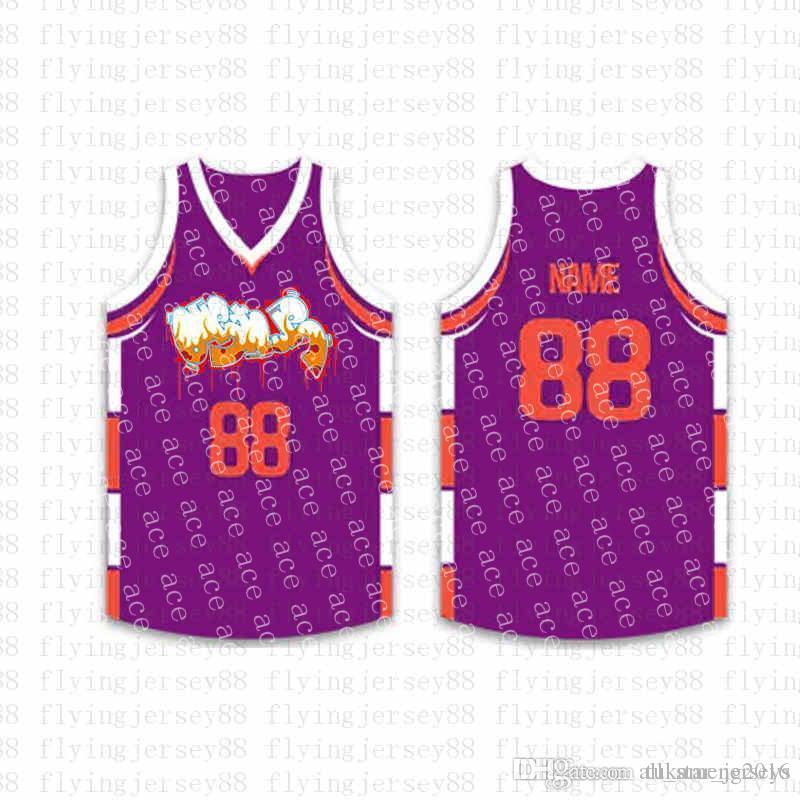 قمة كرة السلة مخصص الفانيلة رجل التطريز شعارات جيرسي شحن مجاني رخيصة بالجملة أي اسم أي عدد الحجم S-XXL ofja5