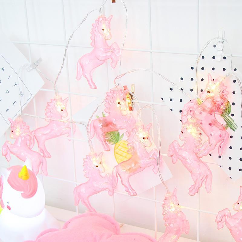 Festival decorativo della lampada degli stili di cavallino LED della stringa delle luci di modellatura dell'unicorno con le stringhe decorative del contenitore di batteria leggero vendita calda 10ht L1