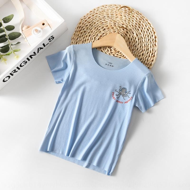 desgaste de los niños xd8aP Xu Shantong Chen Tong Shan Chen shannew modal de la camisa medio-manga de manga corta T-verano 2020 de los niños y para los niños
