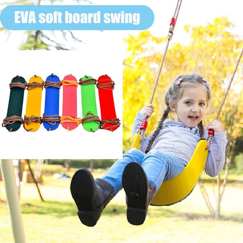 شجرة الطفل حبل أرجوحة مقعد للأطفال اللون EVA مجلس الناعمة U على شكل أرجوحة حديقة في الهواء الطلق سوينغ المعلقة ZZA2351