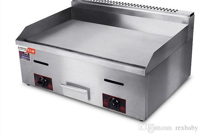 Venda quente aquecimento gás aquecimento comercial griddle panela de aço inoxidável griddle gás bandeja máquina frita arroz panela