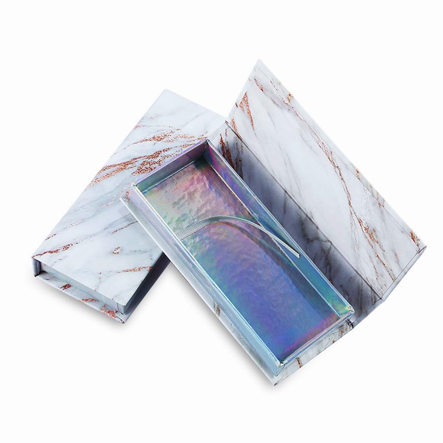 대리석 빈 속눈썹 패키지 상자 골 판지 마그네틱 상자 포장 거짓 속눈썹 포장 가짜 눈 속눈썹 패키지 상자 RRA915