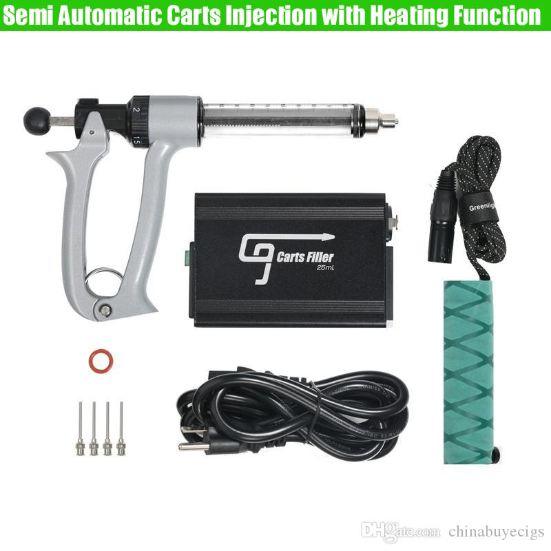 Orijinal 0.5ml 1ml Vape Kalın Yağ Kartuşları için Gun Dolum Isıtma Fonksiyonu ile G9 Yarı Otomatik Arabaları Enjeksiyon Makinesi GREENLIGHTVAPES
