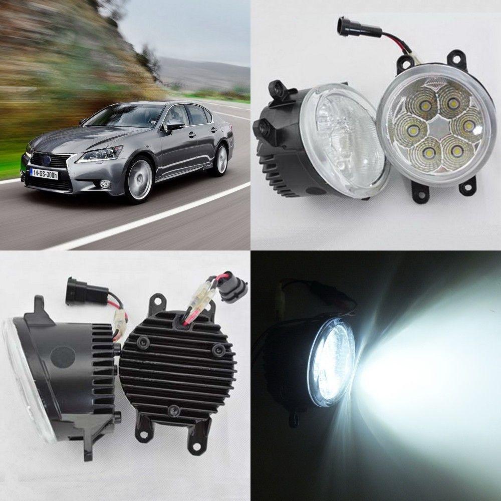 Juli König 18W 6500K LED Frontstoßstange Tagfahrlicht LED-Nebel-Lampe Fall für Lexus GS350 / GS450h / GS460 2012-2015, über 1260LM / pc