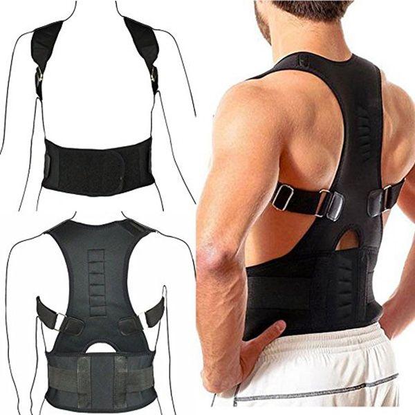 Venda quente Apoio Ajustável Postura Brace Magnet Terapia Correias de Volta Pescoço Corrector Spine Suporte Brace DC88